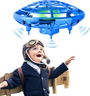 infinitoo Mini UFO Flying Ball Toys, Hand-Controlled Drone With 5 Infrared Sensors Kids Flying Toys for Boys and Girls Han...