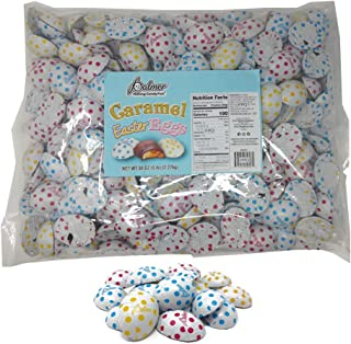 R.M. Palmer Chocolate Flavor Caramel Filled Half Eggs – 5 Lbs. – Individually Wrapped Easter Bulk Candy – Perfect For Gift Baskets – Irresistibly Sweet and Delicious