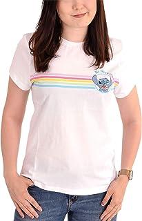 Lilo & Stitch Camiseta para Mujer Disney Be Nice Cotton White