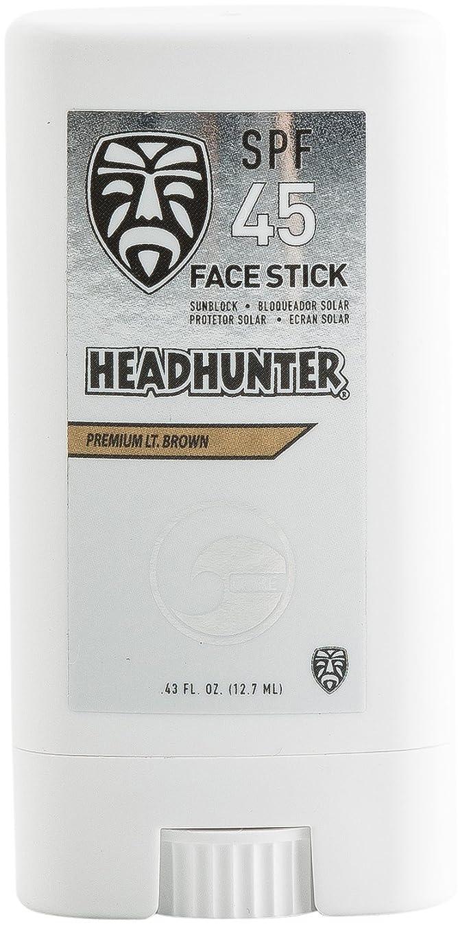 妻羊飼い静脈HEAD HUNTER(ヘッドハンター)日焼止め スティック [Lt/Brown] FACE STICK SPF45 強力ウォータープルーフ