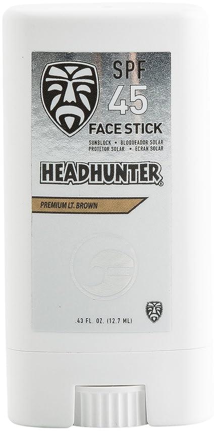 奴隷トースト精度HEAD HUNTER(ヘッドハンター)日焼止め スティック [Lt/Brown] FACE STICK SPF45 強力ウォータープルーフ