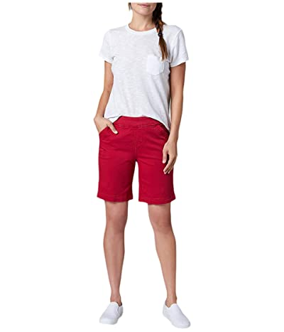 Jag Jeans 8 Gracie Pull-On Shorts in Twill (Double Cherry) Women