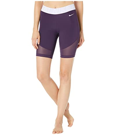 Nike Pro Shorts 8 (Grand Purple/Lavender Mist/White) Women