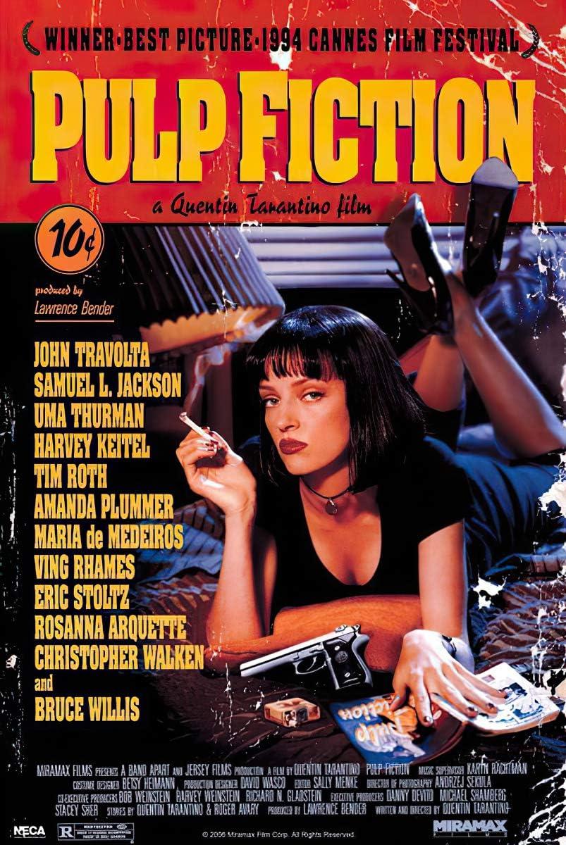 Maxi Poster mit Pulp Fiction Deckblatt – 20 cm x 20,20 cm