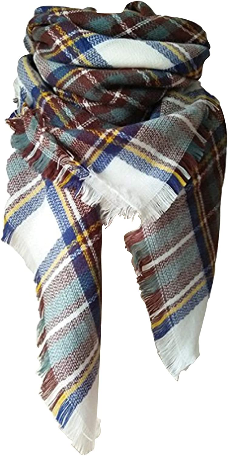 Our shop most popular Lanzom Large Max 61% OFF Tartan Fashion Women Lovely Scarf Wrap Blanket Warm