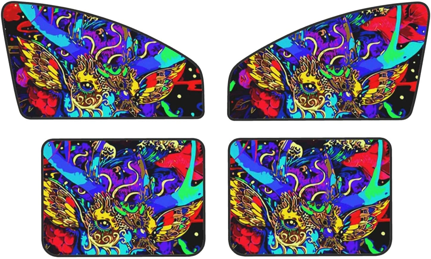 Coloured Fawn Car Window Sun Great interest Large special price Shade Pack fr Damage 4 Reduce -