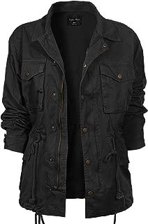 Women's Solid Drawstring Zipper Front Closure Cargo Oversized Utility Anorak Jacket