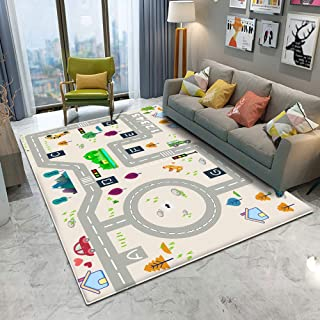 Kids Rugs for Bedroom Playroom 3D Carpet Chair Mats for Carpeted Floors Flannel Area Rug for Bathroom Living Room (D69, 60...