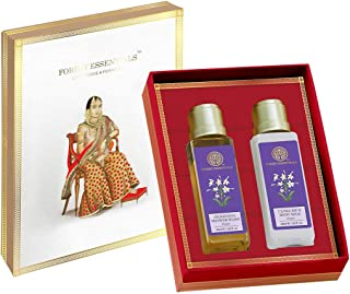 Forest Essentials Parijat Body Care Duo Gift Box 100ml (Body Lotion + Body Wash)