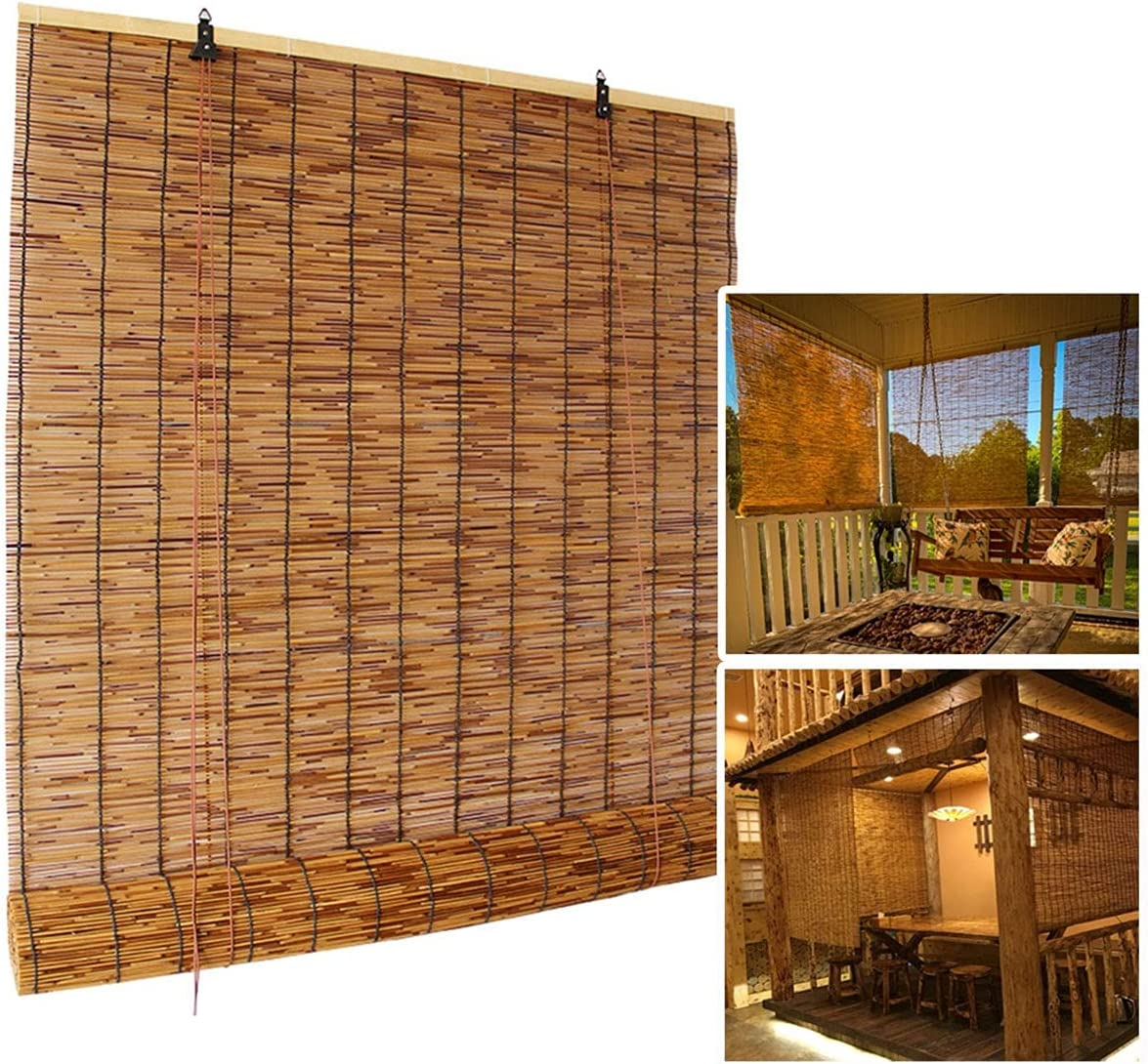Doovin Reed Roller Blinds for Bamboo Up Decoration Quantity limited Miami Mall Window Roll