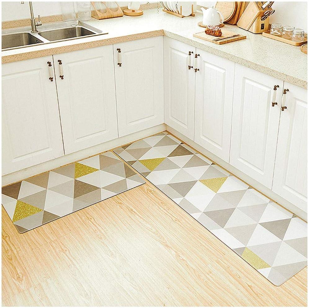 H9ZJ Kitchen Rug Washable Non Slip PVC Carpet Runner Kitchen ...