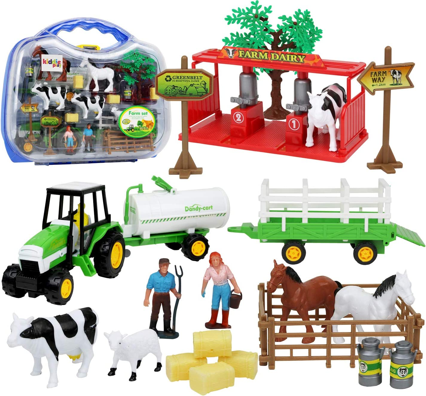 Kiddie Play Farm Toys Tulsa Fees free!! Mall Set with Toddlers Animals for Pie 25