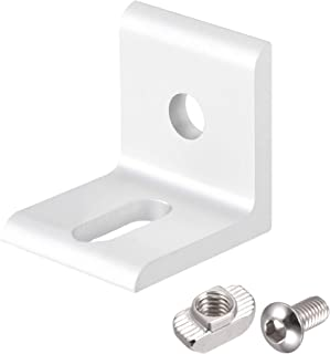 uxcell Inside Corner Brace Angle Bracket Fastener L Shape 30mmx30mmx26mm with Screws and Nut for 3030 Series Aluminum Extr...