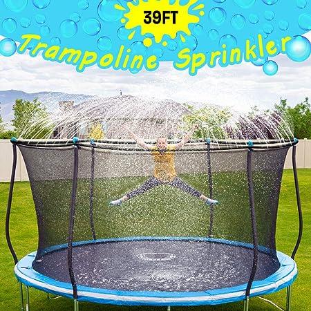 SUNPACE Trampoline Sprinkler for Kids Outdoor Trampoline Backyard Water Park Sprinkler Fun Summer Outdoor Water Toys for Boys Girls 39ft