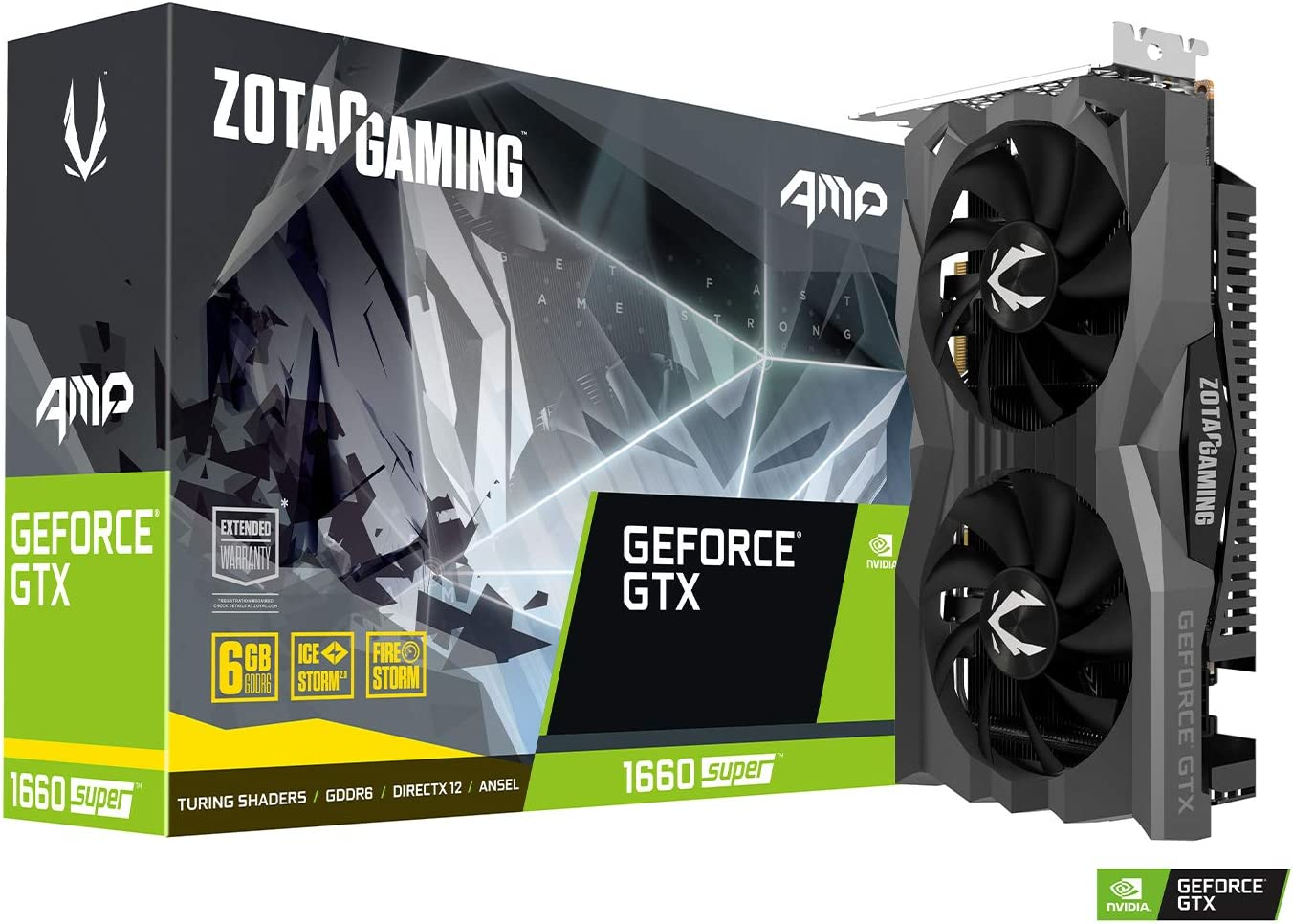 ZOTAC Gaming GeForce GTX 1660 Super AMP Edition 6GB GDDR6 Tarjeta gráfica HDMI/3xDP