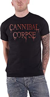 Cannibal Corpse T Shirt Dripping Original Band Logo Official Mens Black
