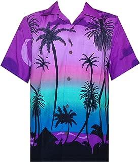 Hawaiian Shirts for Men Tropical Palm Trees Printed Aloha Holiday Beach wear