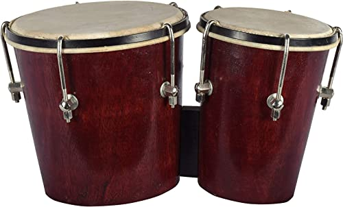 Kannan Musical Instruments 1 Piece Bongos First Quality Dark Brown