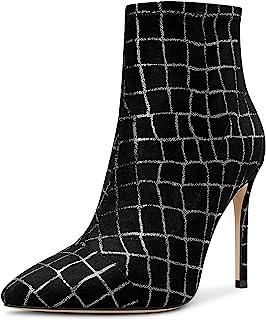 CASTAMERE Botas Elasticidad Mujer Tacón de Aguja Botines Alto Tacón 10CM Heels