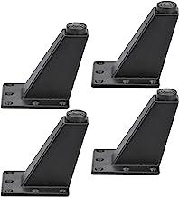 KARAA Set van 4 meubelpoten, zwart, 8.2cm, in hoogte verstelbaar, aluminiumlegering, meubelpoten, set voor kast, bank, taf...