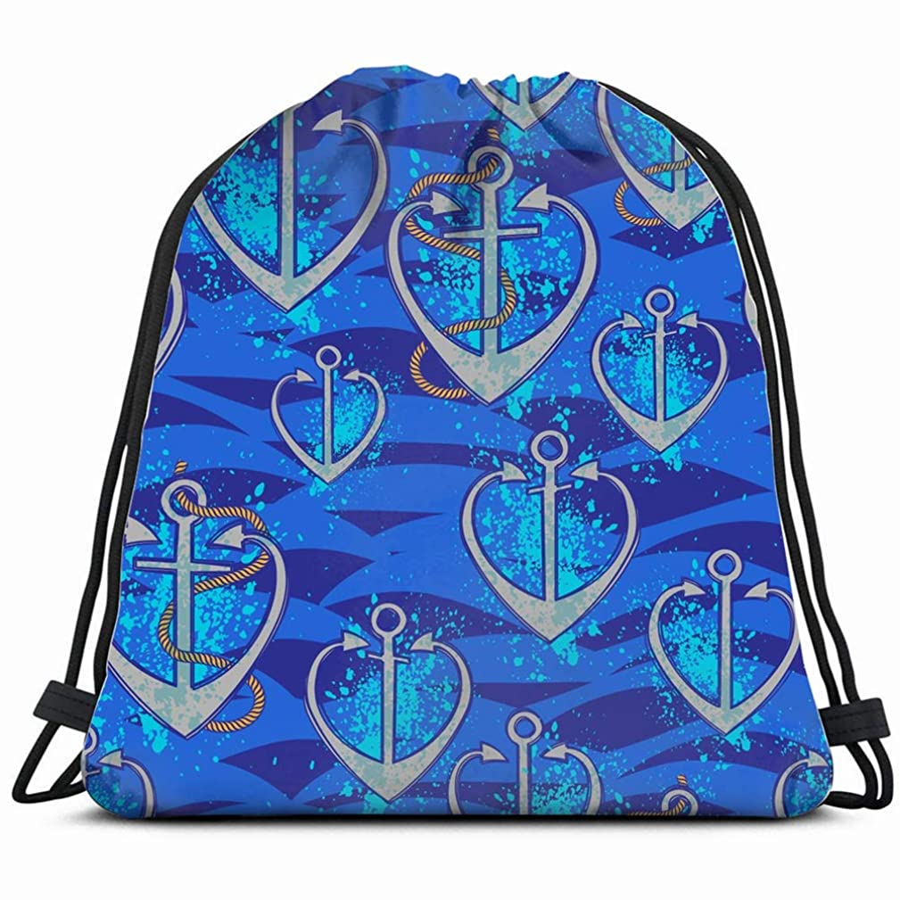 sealove waves seamlessholidays Drawstring Backpack Bag Gym sack Sport Beach Daypack for Girls Men & Women Teen Dance Bag Cycling Hiking Team Training 17X14 Inch