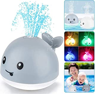 Baby Shower Toys, Toddler Whale Toys, Automatic Sprinkler Toys with LED Lights, Induction Luminous Sprinkler Fountains, Ba...