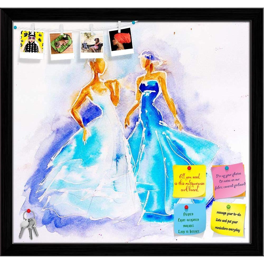 ArtzFolio Women in Nice Blue Dresses Printed Bulletin Board Notice ...