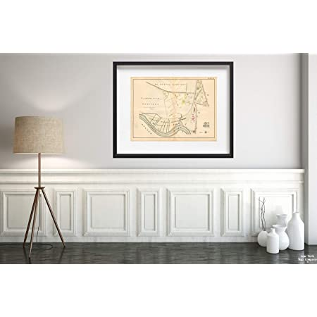 Map Atlas of The City of Cambridge, MA, Cambridge 1903 Plate 034 Historic Antique Vintage Reprint Size: 18x24 Ready to Frame