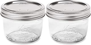 Kerr Wide Mouth Half-Pint Glass Mason Jars 8-Ounces with Lids and Bands (2-Pack) (24 Jars, 24 jars)