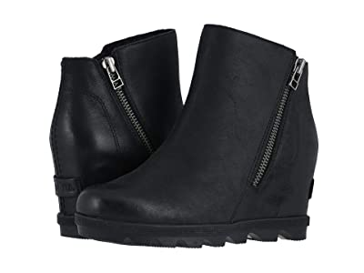 SOREL Joan of Arctic Wedge II Zip (Black) Women