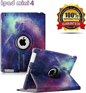 iPad Mini 4 Case - 360 Degree Rotating Stand Case Cover with Auto Sleep/Wake Feature for iPad Mini 4 (Galaxy)