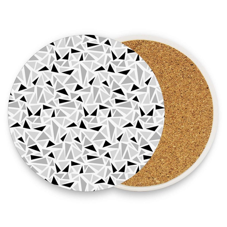 普遍的な慣らす優れましたコースター 格子 円形 4枚セット エコ素材 断熱パッド 防水 優れた耐熱性 高耐久性 滑り止め 速乾 コップ敷き 飲茶 飲コーヒー キッチン オフィス 喫茶店