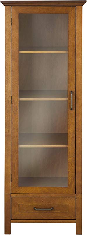 Elegant Home Fashion Anna Linen Cabinet With Door And Bottom Drawer