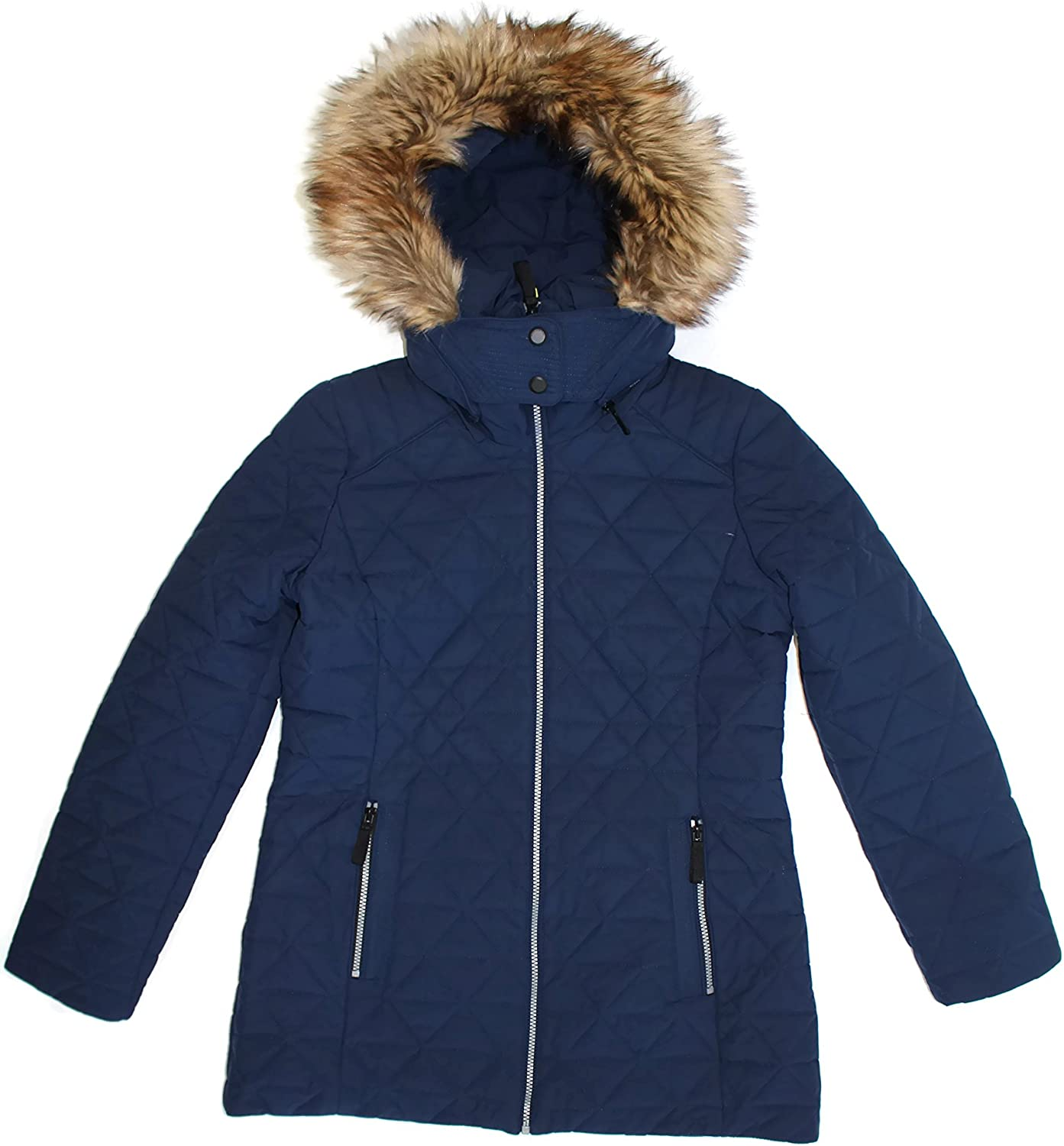Andrew Marc Ladies 55% OFF Quilted Jacket supreme With Navy Large Stretch