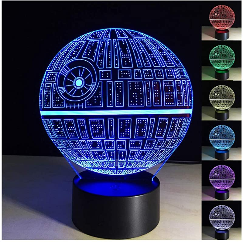 Death Star 3D Optical Illusion Lamp 3D Death Star Lamp Led Night Light Lamp 3D Illusion Led Desk Table Lamps For Living Room Death Star