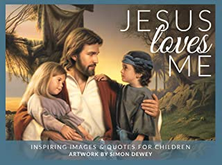 Simon Dewey Jesus Loves Me- Minicard Pack- 16 Cards- 3x4- Inspiring Images and Quotes for Children