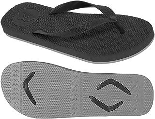 Boomerangz Regular Fit Interchangeable Flip Flops | Slippers | Thongs (Men's) Colour: Black/Grey