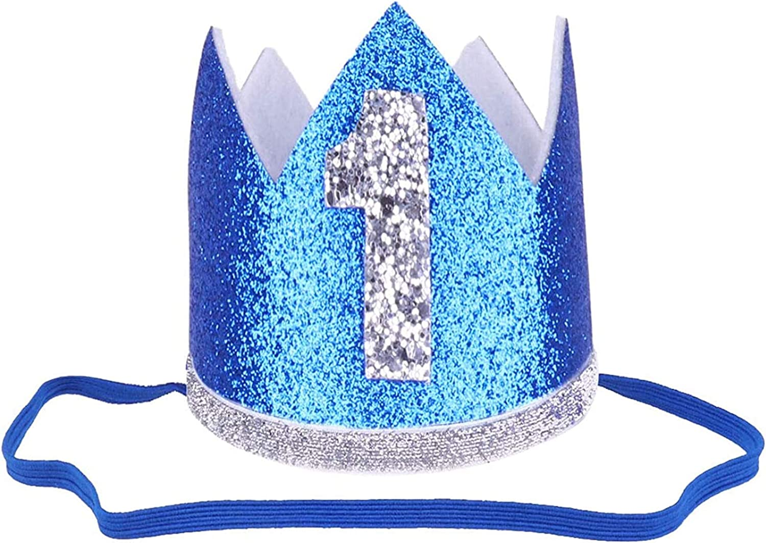 KKmeter Baby Boy Girls 1 Year Old 1st Birthday Crown Hat Prince Party Supplies Favors Headband Costume Photo shoot