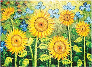 JCCOZ-URG World Masterpiece Collection Jigsaw Puzzle- Van Gogh Sunflower 1000 Piece for Adults Kids - Every Pieces Fit Tog...