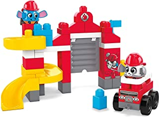 Mega Bloks Peek A Blocks Fire Station GYH11, Building Toys for Toddlers (51 pieces) GYH11