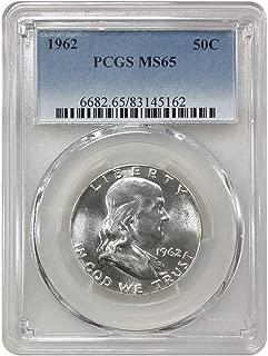 1962 P Franklin Half Dollar 50C MS-65 PCGS