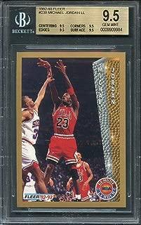 1992-93 fleer #238 MICHAEL JORDAN LL chicago bulls BGS 9.5 (9.5 9.5 9.5 9.5) Graded Card