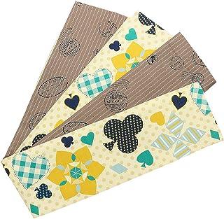 (キステ)Kisste 半幅帯 ポリエステル 細帯 リバーシブル 小袋帯 <アイボリー?薄茶/トランプ> 長尺 日本製 5-8-03815