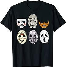 Scary Horror Movie Face Masks Clown Reaper Halloween Costume T-Shirt