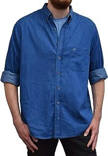 Lee Valley, Ireland Irish Grandfather Collarless Rookie Shirt Blue Denim L