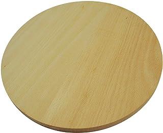 Tabla de cortar redonda de madera circular para cortar pizza, de doble cara, 45 cm