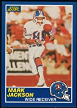 1989 Score Football #17 Mark Jackson Denver Broncos Official NFL Trading Card From the Premiere Score Set