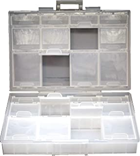 Aidetek Half Transparent BOX-ALL-24 Small Parts Beads Stationery Jewelry Box Organizer for Sorted Parts 3 Sizes 24 compart...