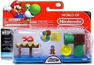 New Super Mario Bros U Micro Land Ice Mario & Sparkling Water Playset (Jakks Pacific)