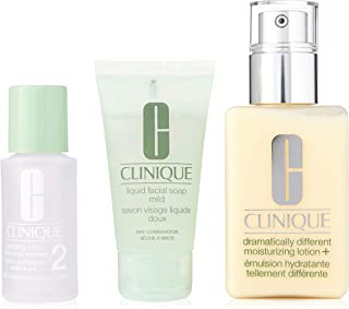 Clinique Great Skin 3-Step Skin Care System - Dry Combination Skin Type by Clinique for Unisex - 3 Pc Kit, 3 count